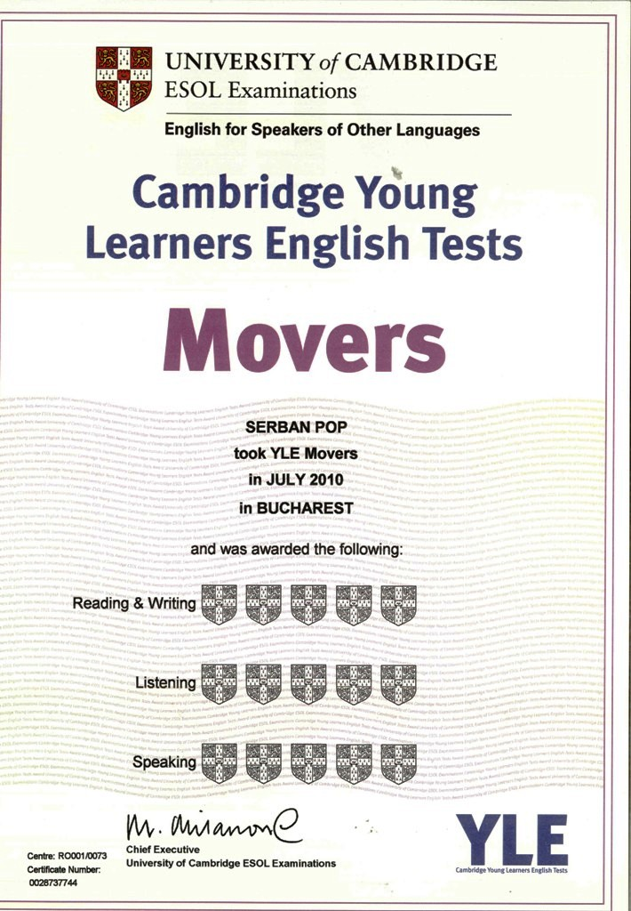 Cambridge YLE Certificates for hardworking students! | Learning English is easy!
