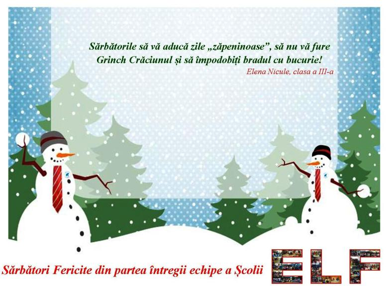 Sarbatori fericite Elf