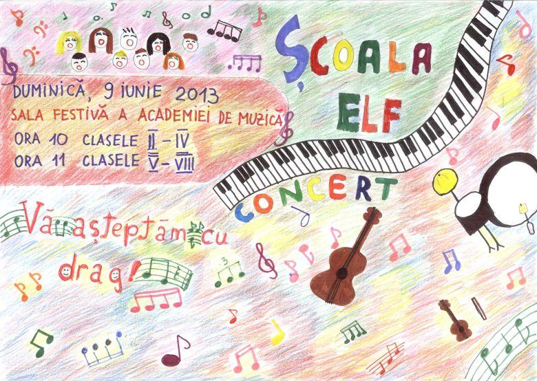Afis concert Scoala Elf