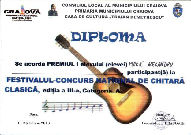 Diploma Mare Alexandru