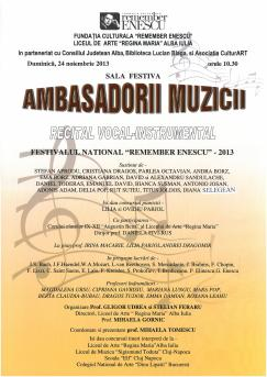 Remember Enescu, Alba-Iulia 2013
