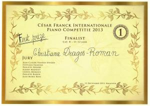 Diploma, Cesar Franck, Belgia 2013
