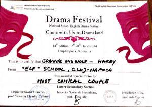 Diploma Dramaland 2014